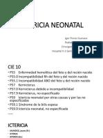 Ictericia Neonatal - Cuarta Clase