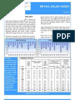 Retail Sales Index July 2010