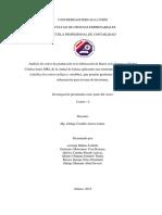 Analisis de Costos de Produccion en La f