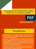 Materi II - Randomized Incomplete Block Design (Ims-uds)