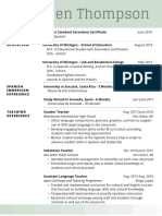 copy of moss green simple resume