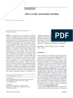 A Review of the Acute Effects of Static