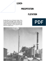 leach precipitation and flotation