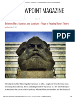 Anarquismo Between Marx, Marxism, And Marxisms