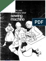 Manual da maquina de costura Brother xl711
