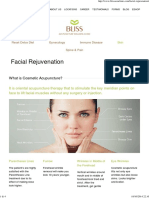 Bliss Acupuncture Clinic – Facial Rejuvenation