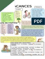9 Les Vacances Dictionnaire Visuel 6603
