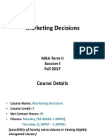 1. Marketing Decisions-SESSION ONE