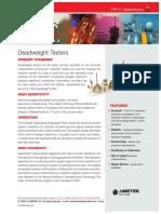 Deadweight Testers Brochure