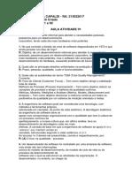Aula Atividade 01 e 02 Qualidade de Software