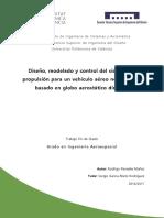 Penadés - Diseño, Modelado y Control Del Sistema de Propulsión Para Un Vehículo Aéreo No Tripulad...