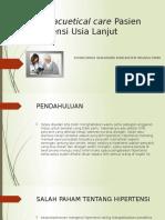 Pharmacuetical Care Pasien Hipertensi Lansia