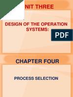Unit Three_II_Process Selection