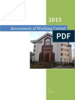 Assessment of Working Capital