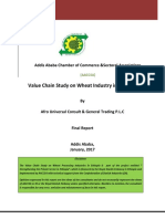 Value Chain Study on Wheat Industry in Ethiopia