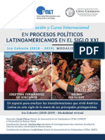 Especializacion Curso Internacional Procesos Politicos