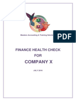 finance health check example