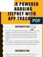 Solar Powered Charging Jeepney With App Tracker
