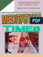Meditation Times Jan 2010