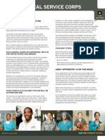 U.S. Army Medical Service Corps Fact Sheet