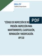 Codigo de Inspeccion a Recipientes a Presion
