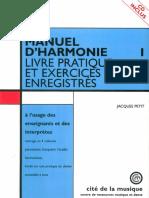 Manuel d'Harmonie 1 - Livre Pratique et Exercices Enregistrés