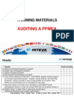 PFMEA Auditing