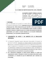 Alejandro Vicente Cornejo Aguilar- Apelo Resolución