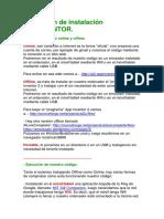 Resumen de Instalación APPINVENTOR