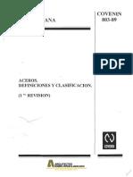 COVENIN 0803-1989 Aceros Definiciones Clasificaciones.pdf