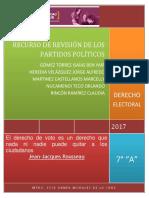 ABP RECURSO DE REVISIÓN DE LOS PARTIDOS POLÍTICOS