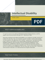 timeline assign 1 - intellectual disability
