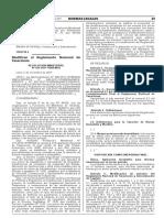 Modifican Reglamento Nacional de Tasaciones RM N_424-2017