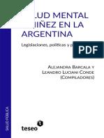 Alejandra Barcala -  Leandro Luciani Conde - Salud mental y niñez en la Argentina - Legislaciones, políticas y prácticas