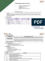 Programación Curricular Anual f.c.c 3ª 2017