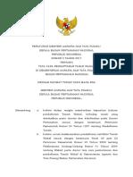 Peraturan Menteri ATR BPN Tent