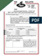 Engine Brake Service Information Summary