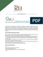Le dossier de presse de l'ODL 13