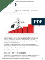 As Principais Diferenças Entre Verticalização e Horizontalização - Portal