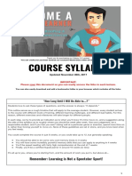 2018 - Course Syllabus SuperLearner V2.0 Udemy