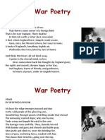 War Poetry and Images