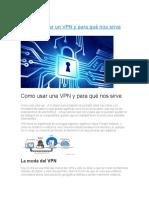 Como Usar Un VPN y Para Qué Nos Sirve