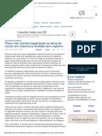 ConJur - Plano Não Comete Ilegalidade Ao Não Cobrir Remédio Sem Registro