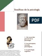 Raíces Filosóficas de La Psicología