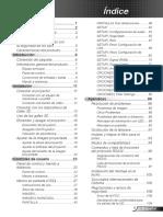 manual de  pryector optoma