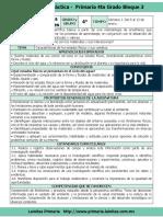 Plan 4to Grado - Bloque 3 Ciencias Naturales (2017-2018)