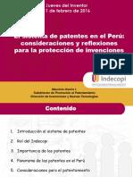 El Sistema de Patentes en El Perú Consideraciones y Reflexiones Para La Protección de Invenciones