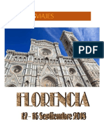Viaje cultural a Florencia. 12 a 16 de septiembre de 2018