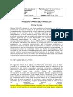 Shirley Gruñid - Producto o Praxis del Curriculum