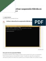 Activar o Desactivar Suspensión Híbrida en Windows 8 u 8